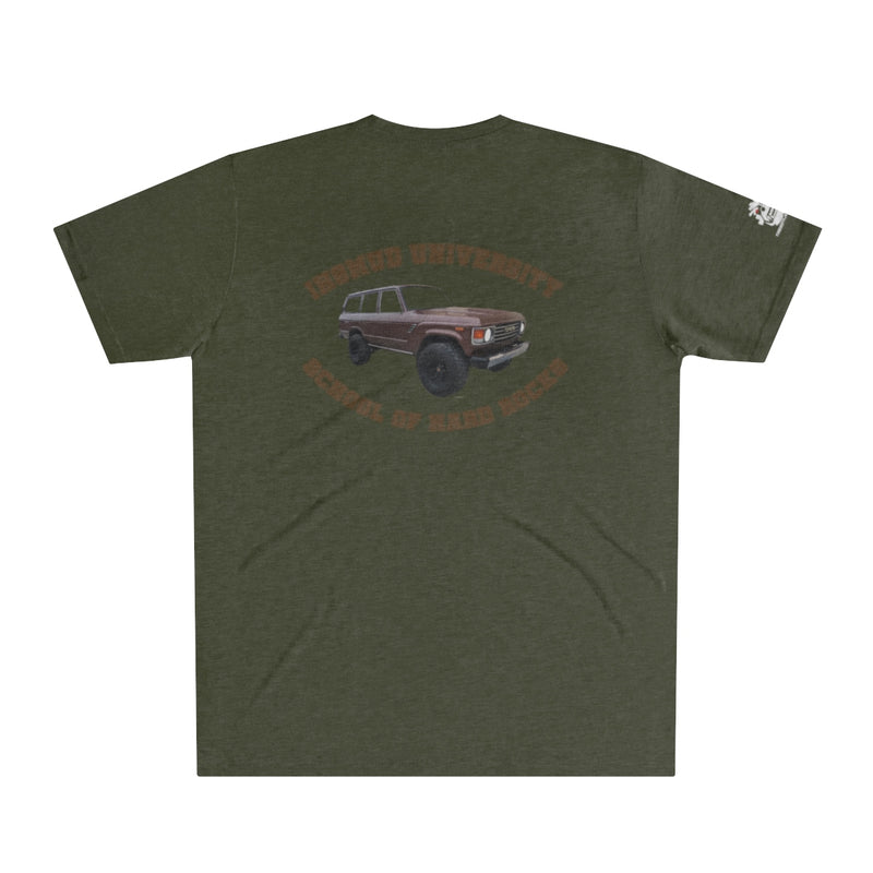 IH8MUD University Distressed Men's Tri-Blend T-Shirt FJ60 LandCruiser