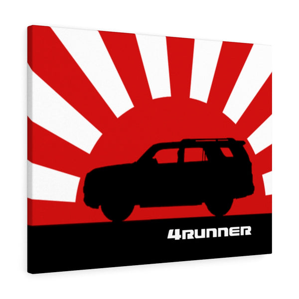 4Runner Canvas Gallery Wraps Wall art Rising Sun Silhouette Design Toyota 4Runner Artwork