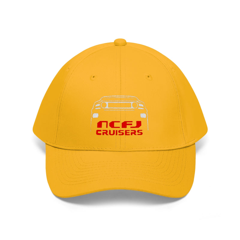 NCFJ Embroidered Unisex Twill Hat by Reefmonkey