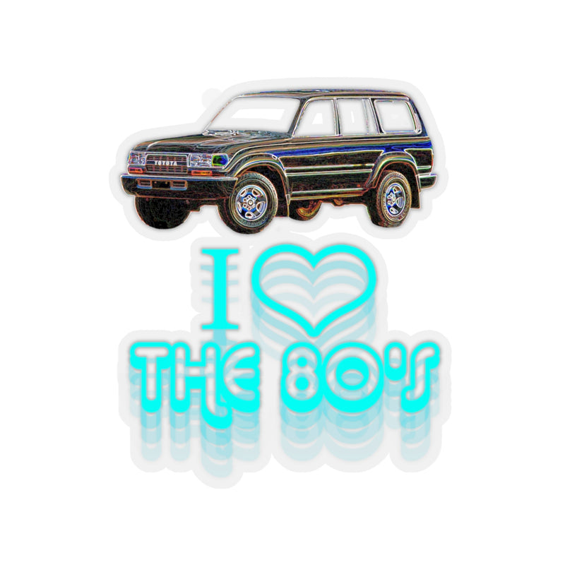 Toyota Land Cruiser FJ80 FZJ80 'I love the 80s' Retro Sticker By Reefmonkey