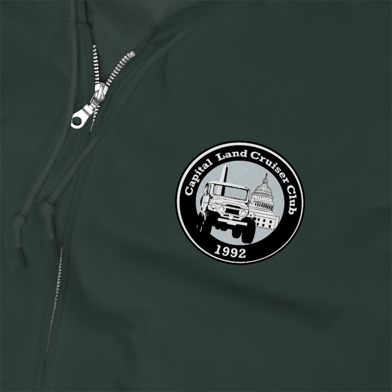 Capital Land Cruiser Club Embroidered Unisex Zip Up Hoodie