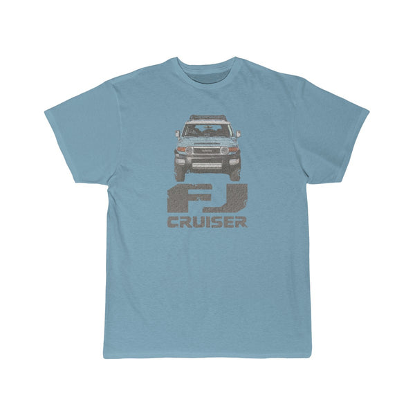 FJ Cruiser Distressed Custom Color: Calvary Blue Short Sleeve Tshirt