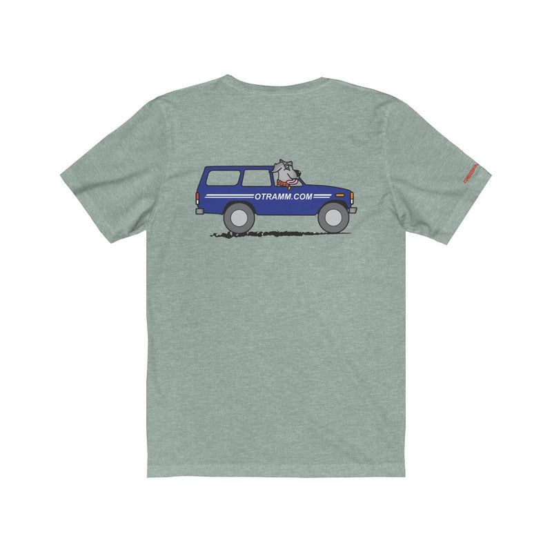 OTRAMM Premium Tee Toyota Land Cruiser FJ60 with Dog Premium Shirt
