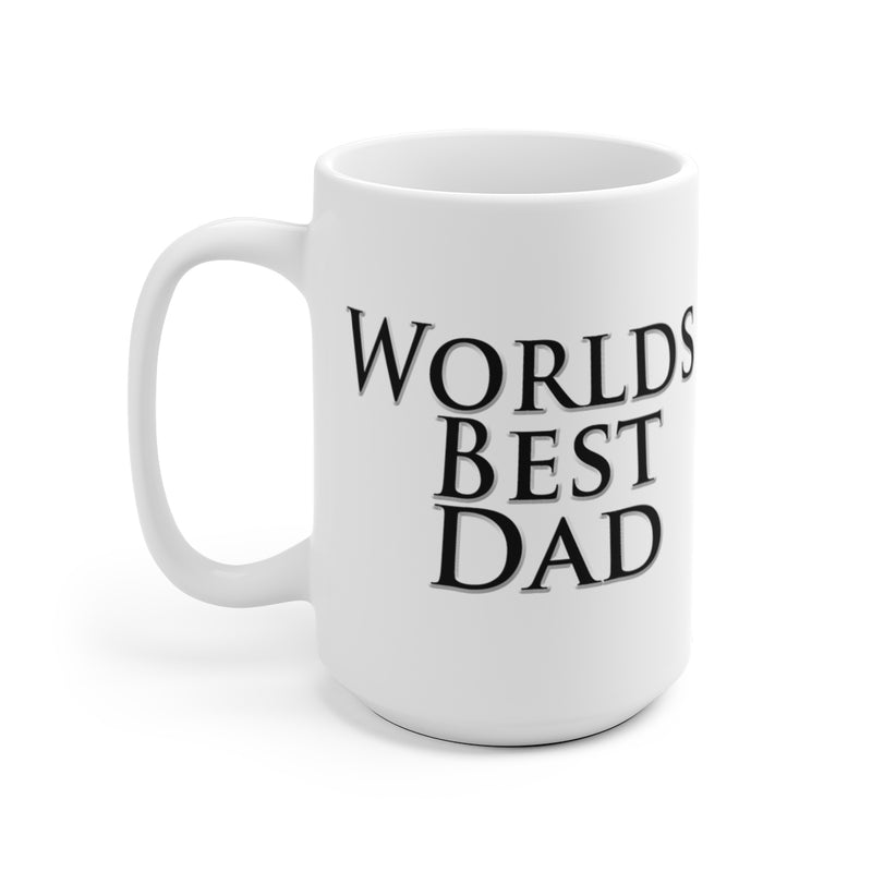 Worlds Best Dad Coffee Mug Fathers Day Gift by Reefmonkey