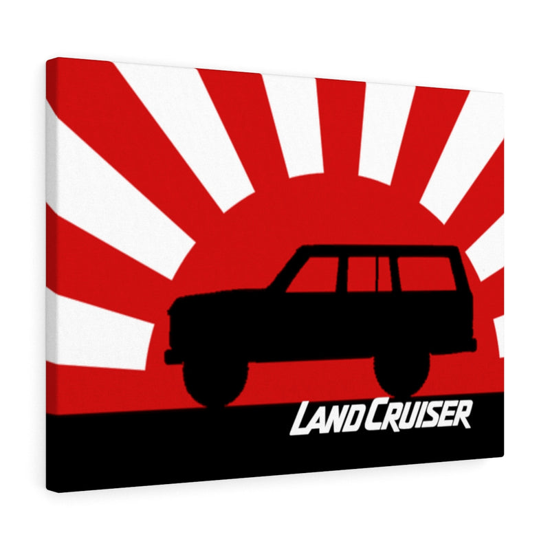 FJ60 Land Cruiser Canvas Gallery Wraps Wall art Rising Sun Silhouette Design Land Cruiser Artwork