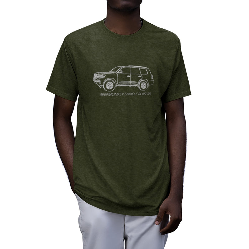 200 Series Land Cruiser Distressed Tri-Blend T-Shirt