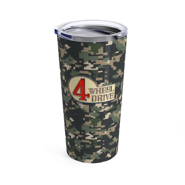 Toyota 4 Wheel Drive Camo Travel Mug Tumbler by Reefmonkey