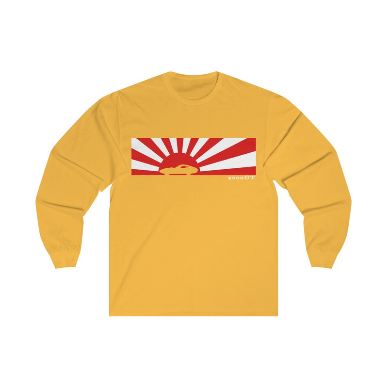 Toyota 2000GT Rising Sun Silhouette Classic Fit Long Sleeve Tshirt