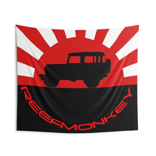 Reefmonkey Tapestries Garage Tapestry Rising Sun FJ40
