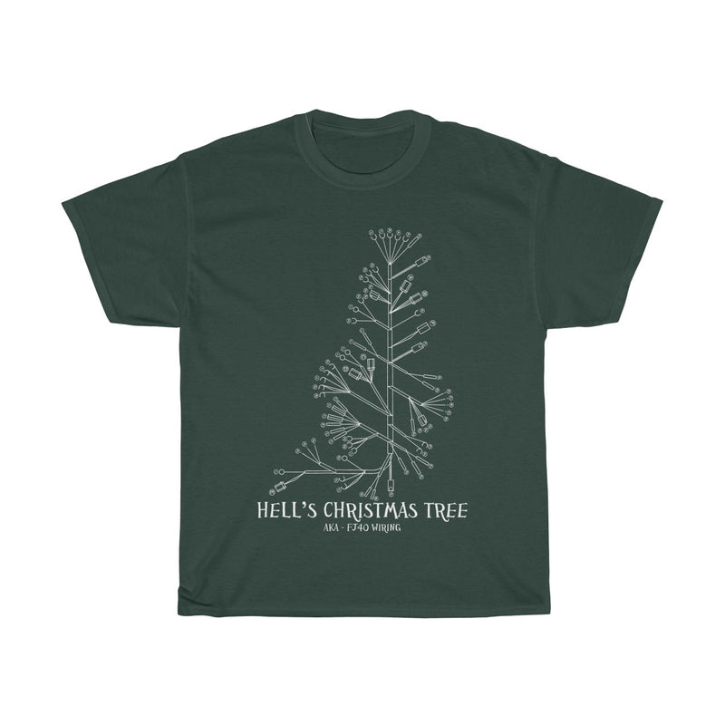 Hell's Christmas Tree - FJ40 Wiring Diagram T-shirt by Reefmonkey FJ45 LandCruiser tshirt