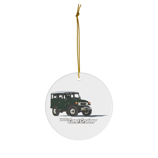 FJ40 Land Cruiser Christmas Ornament Artist Brody Ploude