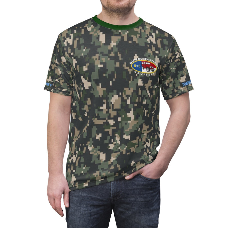 Olde North State Cruisers - Premium Camo AOP cut and sew Tshirt by Reefmonkey