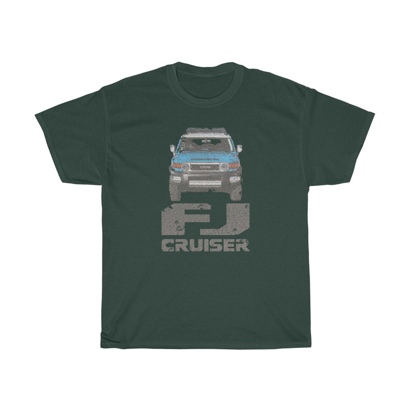 FJ Cruiser Distressed Unisex Cotton Tshirt by Reefmonkey