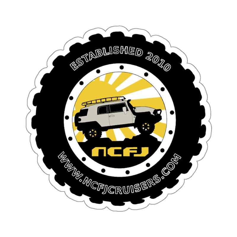 NCFJ Cruisers Kiss-Cut Sticker by Reefmonkey