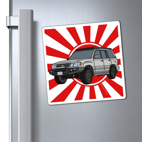LX470 Lexus Fridge Magnet by Reefmonkey Artist Chris Marshall (100 Series Land Cruiser)