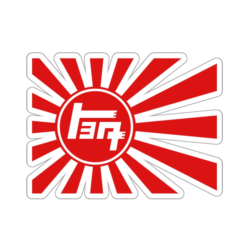 Toyota TEQ Rising Sun Japanese Imperial Flag Navy Style Sticker by Reefmonkey