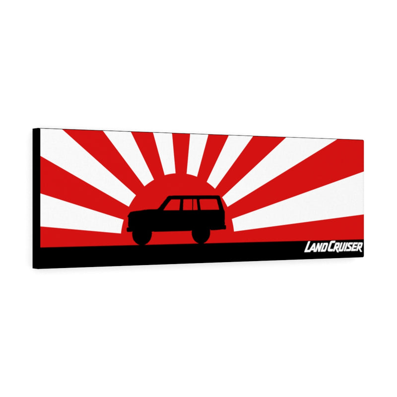 FJ60 Land Cruiser Canvas Gallery Wraps Wall Art Rising Sun Silhouette Design - Long Version Land Cruiser Artwork