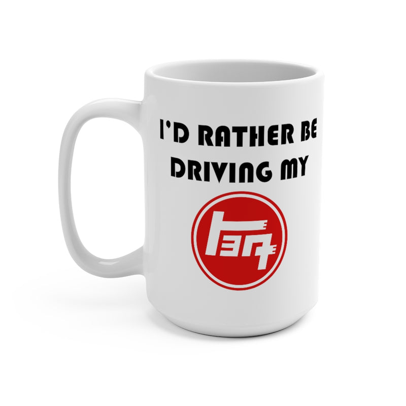 Toyota TEQ Logo Coffee Mug 15oz by Reefmonkey I'd Rather Be Driving My TEQ (Toyota)