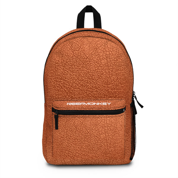 Orange Leather Backpack (Made in USA) by Reefmonkey