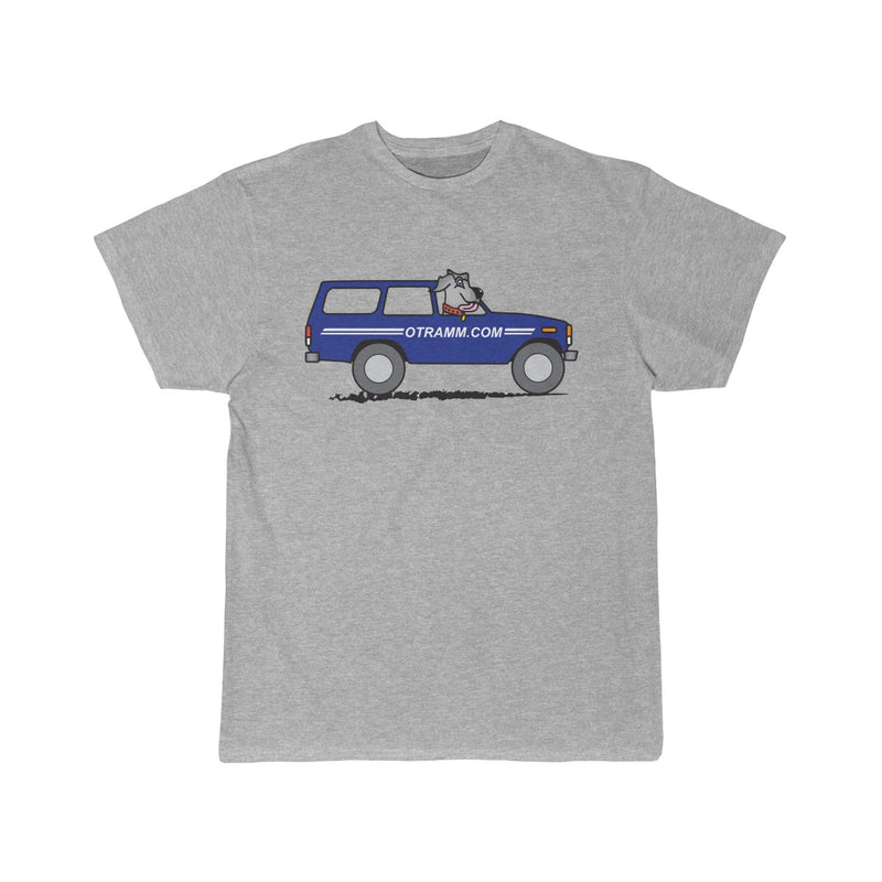 OTRAMM Tee Toyota Land Cruiser FJ60 with Dog Tee  - Single sided Classic Fit Shirt