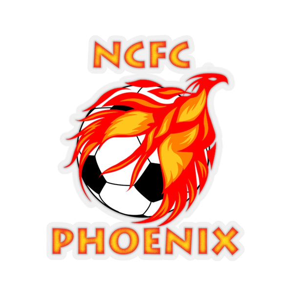 Phoenix Soccer Kiss-Cut Sticker by Reefmonkey