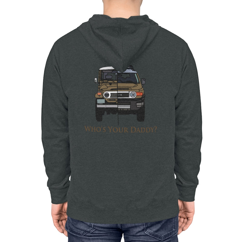 "FJ40 Land Cruiser / FJ Cruiser ""Who's Your Daddy"" Hoodie Toyota Land Cruiser Toyota FJ Cruiser Sweatshirt by Reefmonkey"