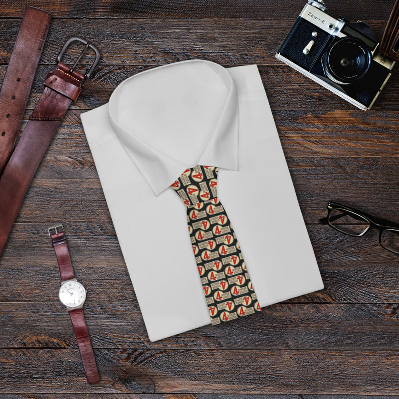 4 Wheel Drive Necktie Toyota Land Cruiser Tie Dark Background