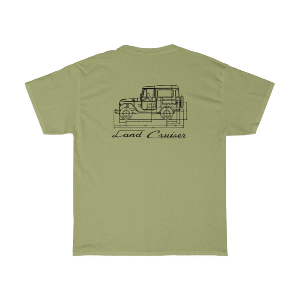 Toyota Land Cruiser FJ40 FSM Diagram Tshirt By Reefmonkey