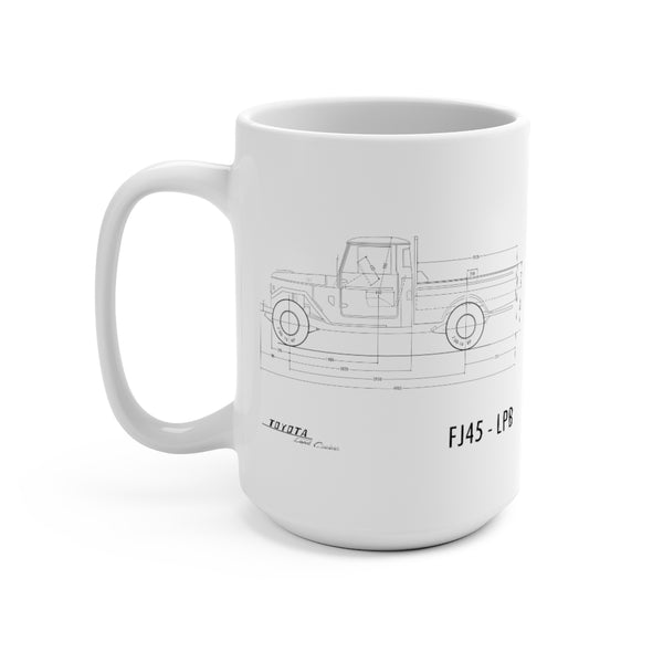 Toyota Land Cruiser FJ45 Coffee Mug 15oz by Reefmonkey