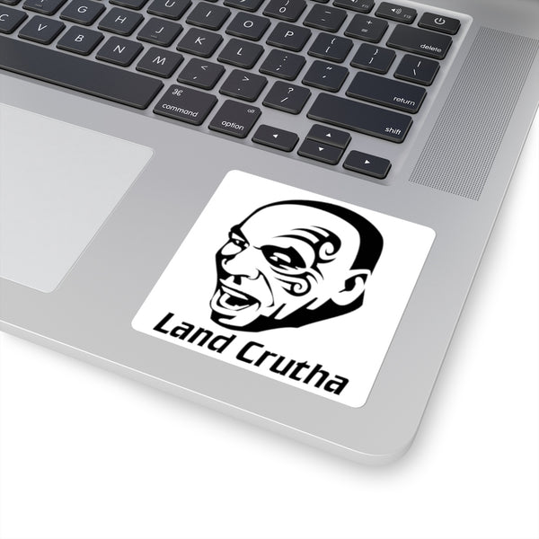 Land Cruiser Mike Tyson Sticker Decal 'Land Crutha' Square Version by Reefmonkey