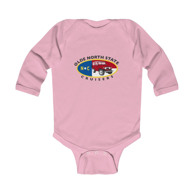 ONSC Olde North State Cruisers Land Cruiser Club Infant Long Sleeve Bodysuit by Reefmonkey