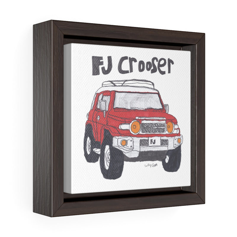 FJ Crooser / FJ Cruiser Kids Art Square Framed Premium Gallery Wrap Canvas