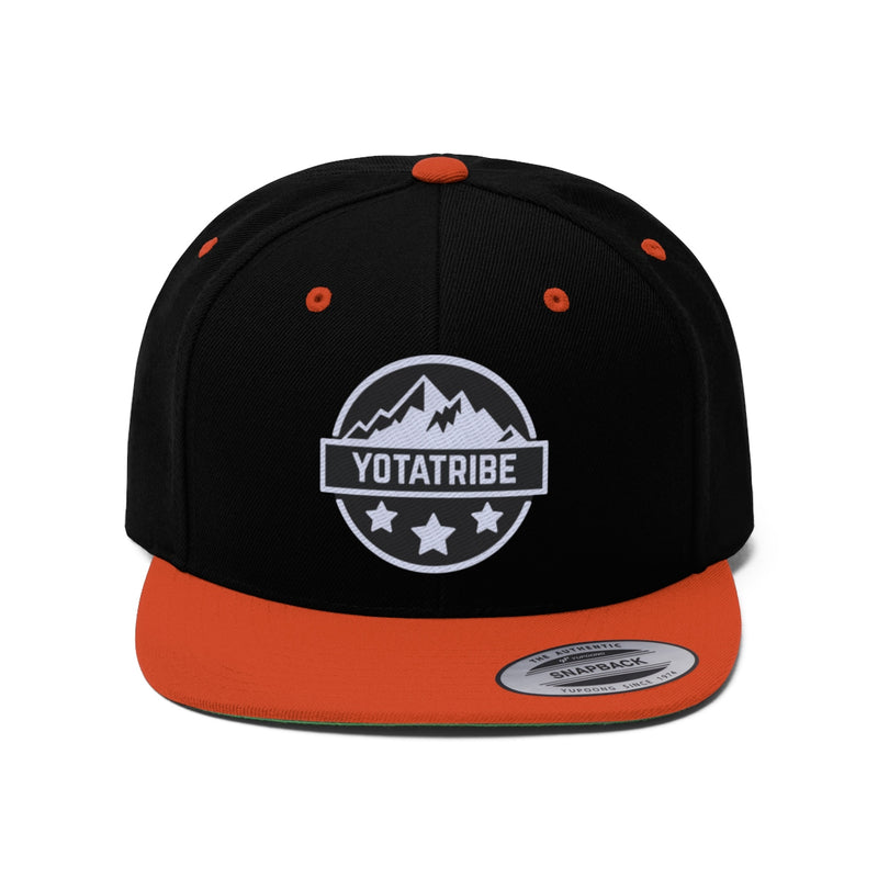 YOTATRIBE - Embroidered Flat Bill Snapback hat - by Reefmonkey partner @yotatribe