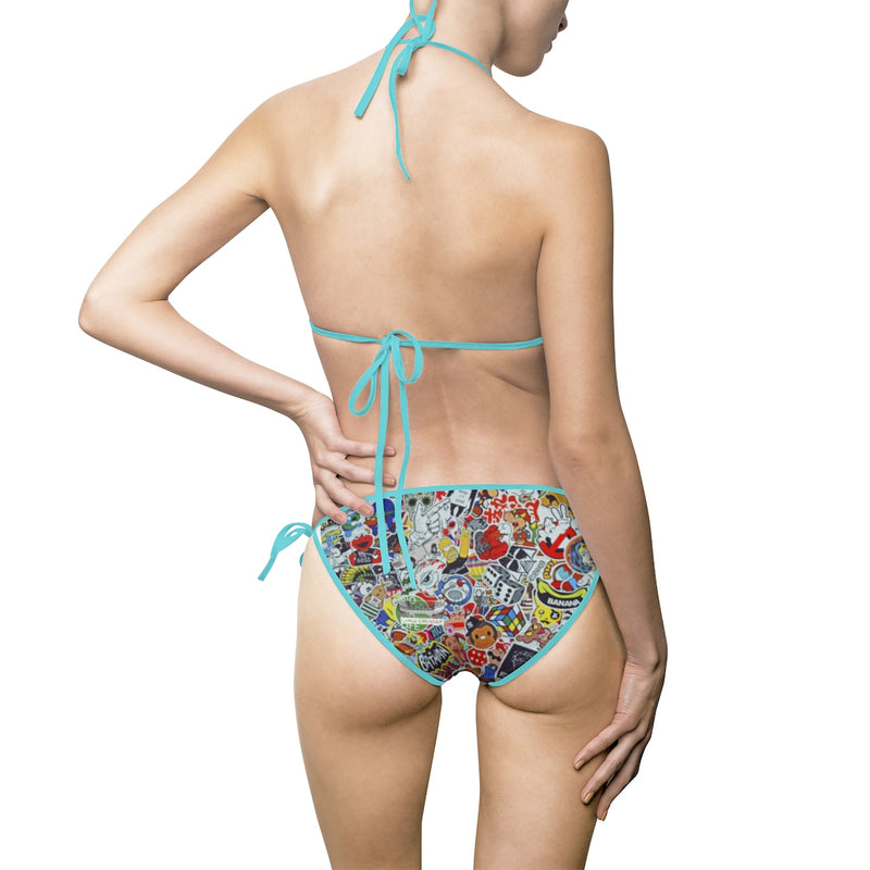 Sticker Bomb Women's Bikini Swimsuit by Reefmonkey