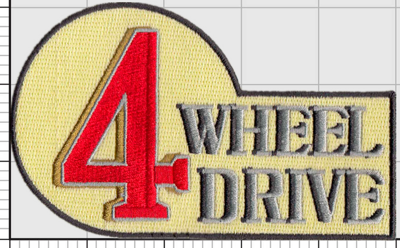 4 Wheel Drive Badge Morale Patch 4WD patch Fj40 Land Cruiser embroidered velcro badge