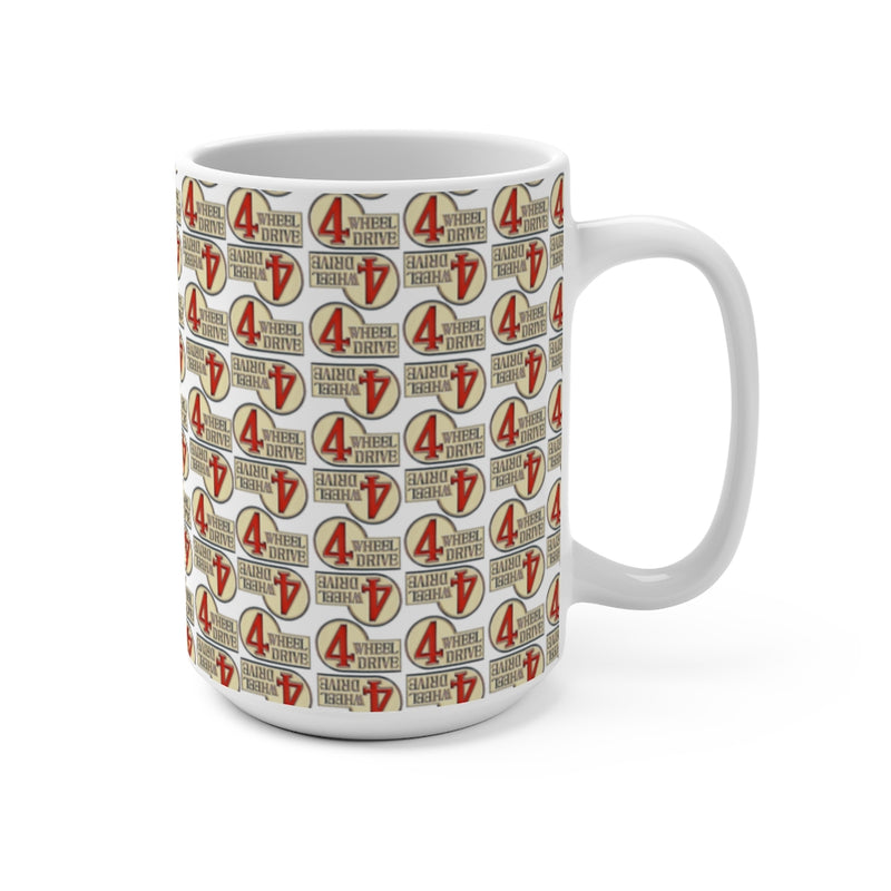 4 Wheel Drive Coffee Mug, FJ40 Coffee Cup, Toyota Land Cruiser, Reefmonkey