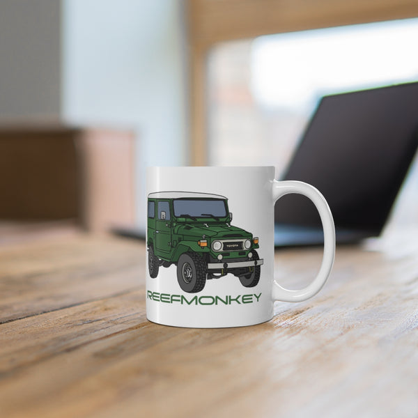 FJ40 Coffee Cup - Land Cruiser Coffee Mug -  Reefmonkey Artist Christopher Marshall