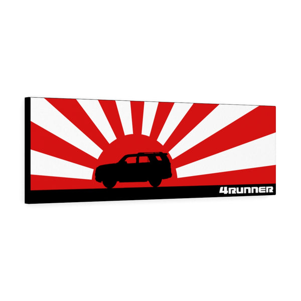 4Runner Canvas Gallery Wraps Wall Art Rising Sun Silhouette Design - Long Version Toyota 4Runner Artwork