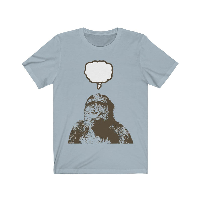 Thoughtful Monkey Unisex T Shirt by Reefmonkey Artist Matthew Lillis