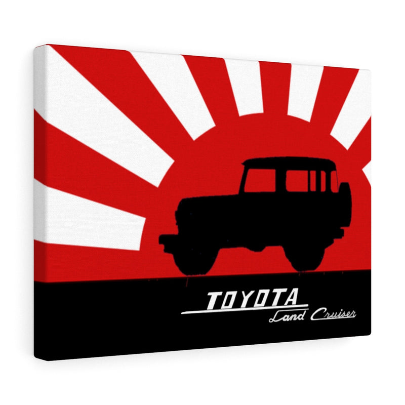 FJ40 Toyota Land Cruiser Canvas Gallery Wraps Wall art Rising Sun Silhouette Design