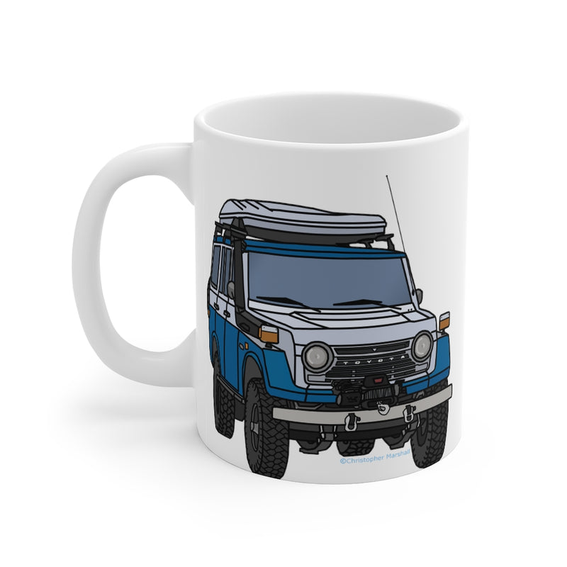 FJ55 Land Cruiser Coffee Mug by Reefmonkey Artist Christopher Marshall