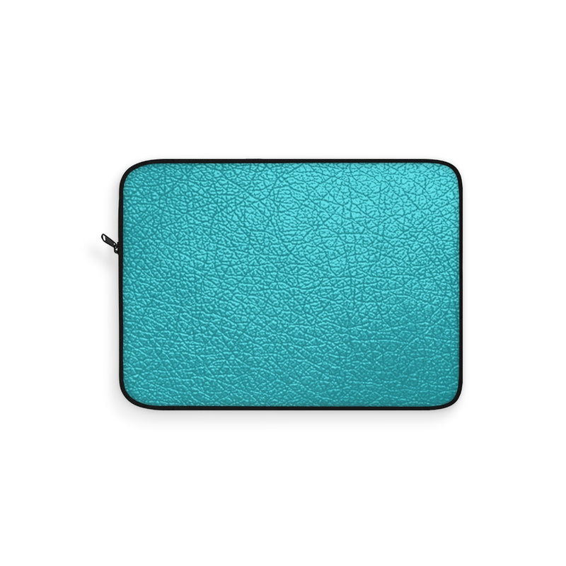 Blue Leather Laptop Sleeve by Reefmonkey