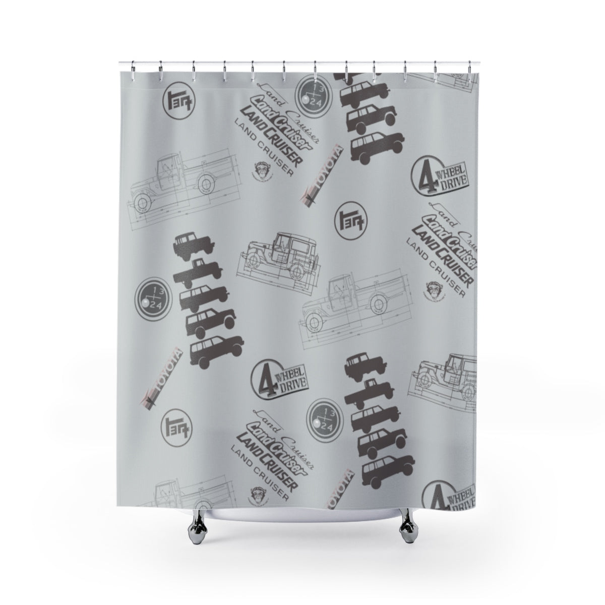 Land Cruiser Gray Shower Curtains by Reefmonkey