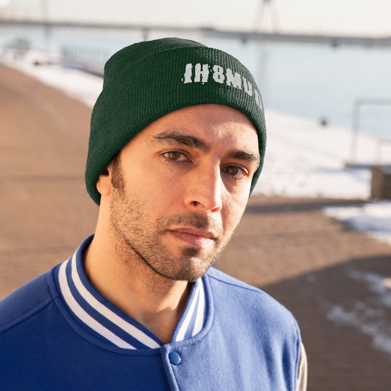 IH8MUD Embroidered Knit Beanie by Reefmonkey