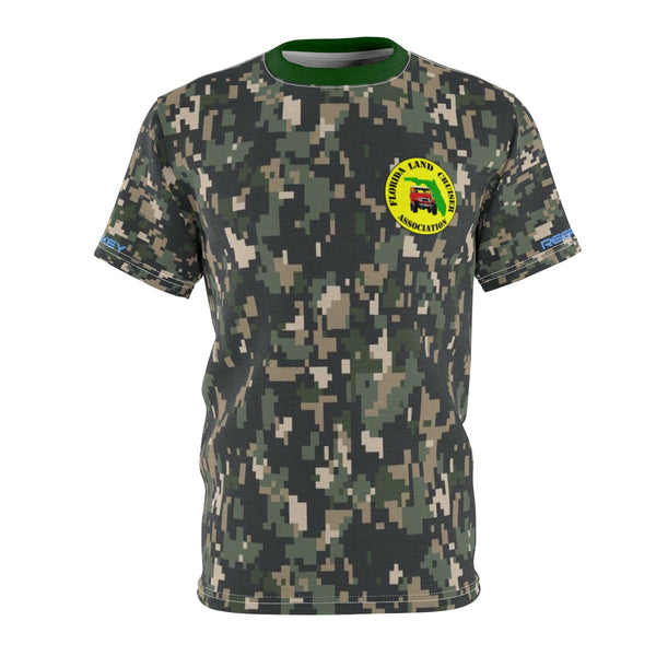 Florida Land Cruiser Association - Premium Camo AOP cut and sew Tshirt by Reefmonkey - FLCA