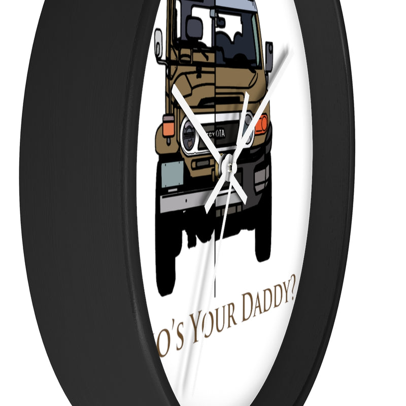 FJCruiser/FJ40 Wall clock Design by Brody Ploude