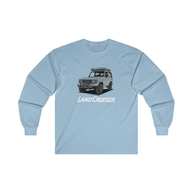 Toyota Land Cruiser 70 Series Long Sleeve Tee FJ70 Land Cruiser Shirt by Reefmonkey Artist Presma Desnesi