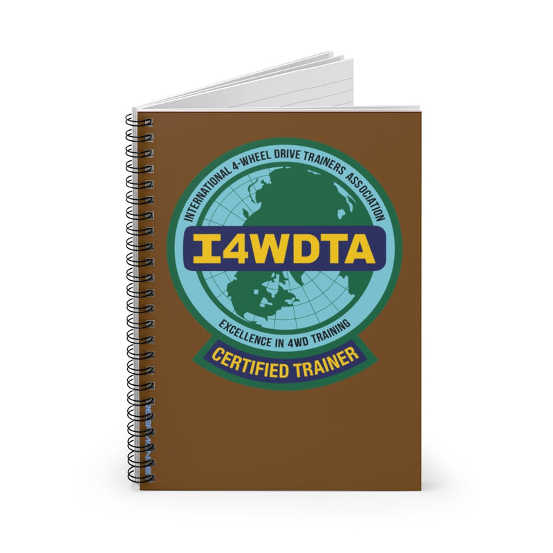 I4WDTA Logbook Spiral Bound Journal - Ruled Line (CERTIFIED TRAINER ONLY)