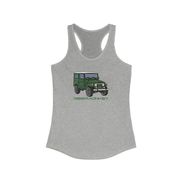 FJ40 Womens Tank Top - Land Cruiser Tank Top - Reefmonkey Artist Chris Marshall
