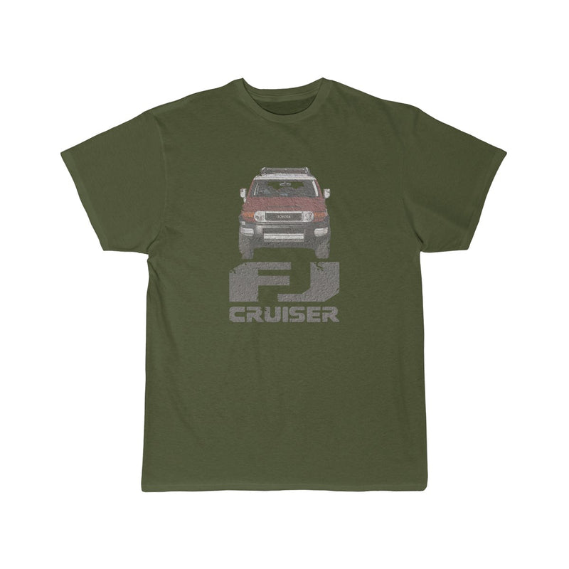 FJ Cruiser Distressed Custom Color: Brick Short Sleeve Tshirt